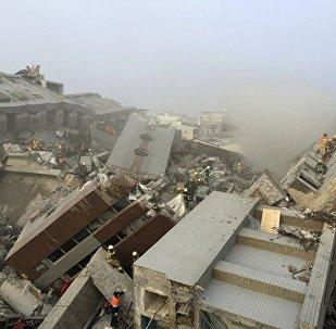 Последствия землетрясения в Тайване