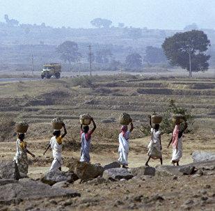 Крестьяне одной из индийских деревень. Архивное фото