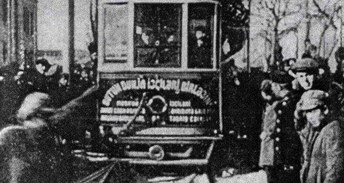 Пуск первого трамвая в Баку. 8 февраля 1924 года