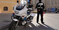 Сотрудники Дорожно-патрульной службы в Баку