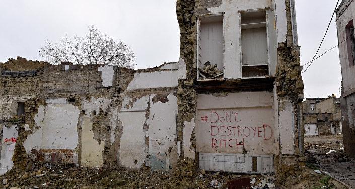 Sovetskidə sökülmüş ev
