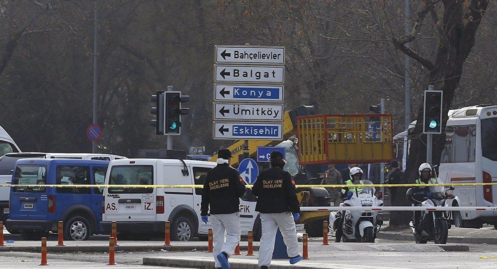 Место взрыва утром 18 февраля