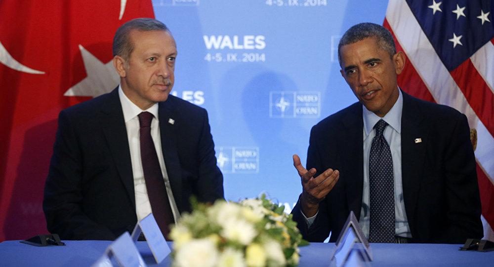Türkiyə prezidenti Rəcəb Tayyib Ərdoğanla ABŞ prezidenti Barak Obamanın görüşü. Arxiv şəkli
