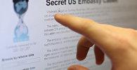 Пользователи интернета читают сайт WikiLeaks