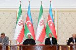 Azərbaycan-İran sənədlərinin imzalanması. Arxiv şəkli