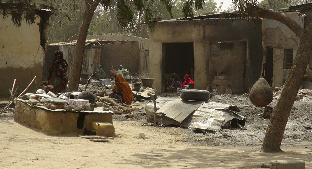 Жертвы нападения террористической группировки Боко Харам в Нигерии