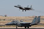 Saudiyyə Ərəbistanına aid F-15 döyüş təyyarələri. Arxiv şəkli