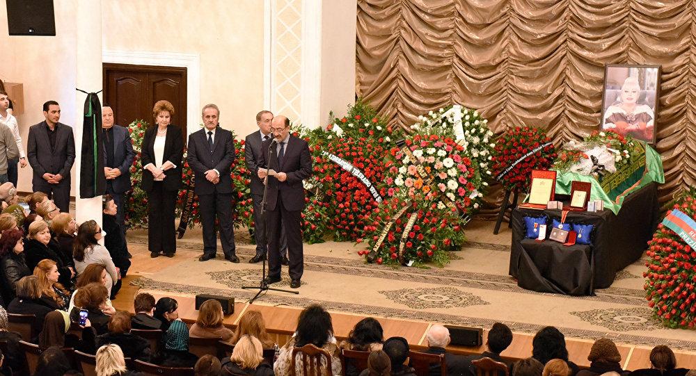 Церемония прощания с народной артисткой Азербайджана Ильхамой Гулиевой