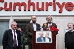 Türkiyənin məşhur jurnalistləri Can Dündar ve Erdem Gül