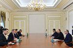 Встреча Президента Азербайджана Ильхама Алиева и специального посланника Госдепа США Амоса Хокстайна