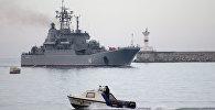 """""""Novocherkassk"""" hərbi gəmisi. Arxiv şəkli"""