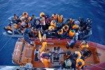 Задержанные у берегов Турции мигранты после неудачной попытки перехода на греческий остров Хиос