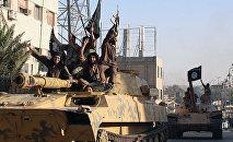 Бойцы ИГ в городе Ракка, архивное фото