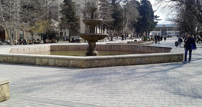 Parkdakı fəvvarə