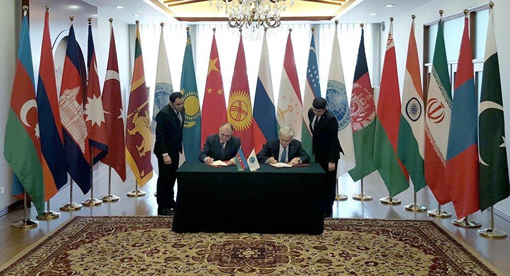 Подписание Меморандума о предоставлении Азербайджану статуса партнера по диалогу ШОС