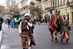 Праздничное шествие в преддверии Новруза, архивное фото