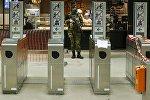 Военные в метро Брюсселя. Архивное фото