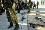 Бойцы группы Альфа в момент переговоров. Архивное фото