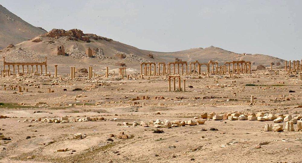 Античный город Пальмира после освобождения от боевиков ИГ