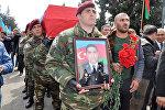Milli Ordunun zabiti, kapitan İnqilab Quliyevin dəfn mərasimi