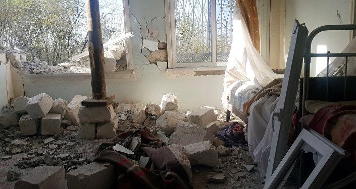 Дом жителя села Эльхана Алиева получил серьезные повреждения в результате артобстрела