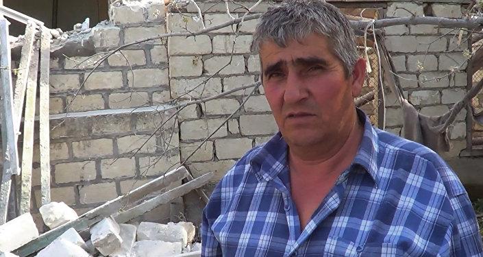 Жтитель села Махрызлы Эльхан Алиев