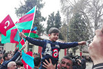 Qazax rayonunda yerli əhali orduya dəstək aksiyası keçirib