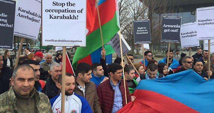 Aksiyada Azərbaycan diaspor təşkilatlarının çoxsaylı nümayəndələri iştirak edib