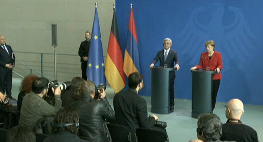 LIVE: Встреча канцлера ФРГ Ангелы Меркель и президента Армении Сержа Саргсяна