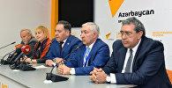 Пресс-конференция руководителей Международной ассоциации Израиль-Азербайджан АзИз