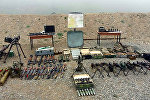 Захваченные вооружения и боеприпасы армянских вооруженных формирований