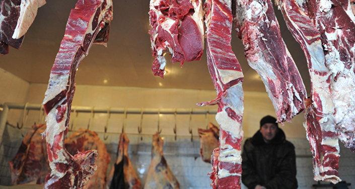 Торговля мясом. Архивное фото