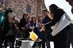 Акция протеста в Ереване против приобретения турецких товаров