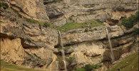 Водопады Лазы в Гусарском районе Азербайджана
