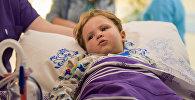Самый маленький пациент акции, мальчику всего 1,5 года