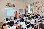 Учебный процесс в одной из бакинских школ, фото из архив