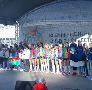 Церемония закрытия Всемирных игр юных соотечественников в Сочи