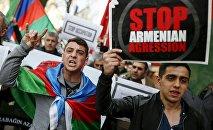 Участники шествия против армянской оккупации. Архивное фото