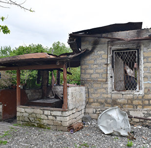 Разрушенные дома Агдамского района