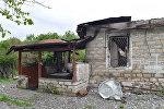 Разрушенные дома Агдамского района, архивное фото