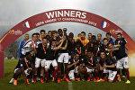 Победители прошлогоднего чемпионата Европы по футболу среди юношей до 17 лет. Бургас, Болгария