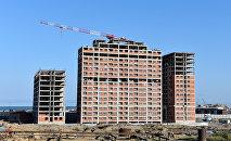 Строительство жилых домов в Баку. Архивное фото