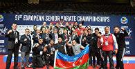 Azərbaycan karateçiləri Fransanın Monpelye şəhərində 51-ci Avropa çempionatını 3-cü yerdə başa vurublar