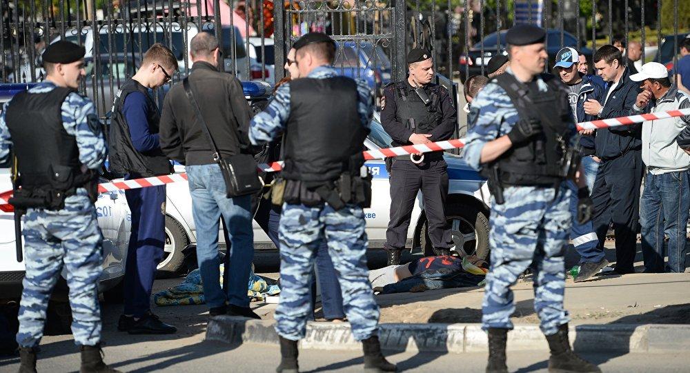 Массовая драка на Хованском кладбище в Москве