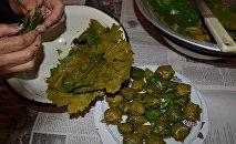 Национальное азербайджанское блюдо долма