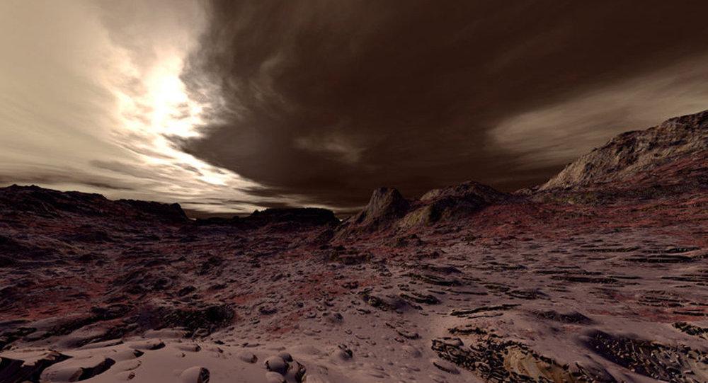 Mars planetinin relyefi