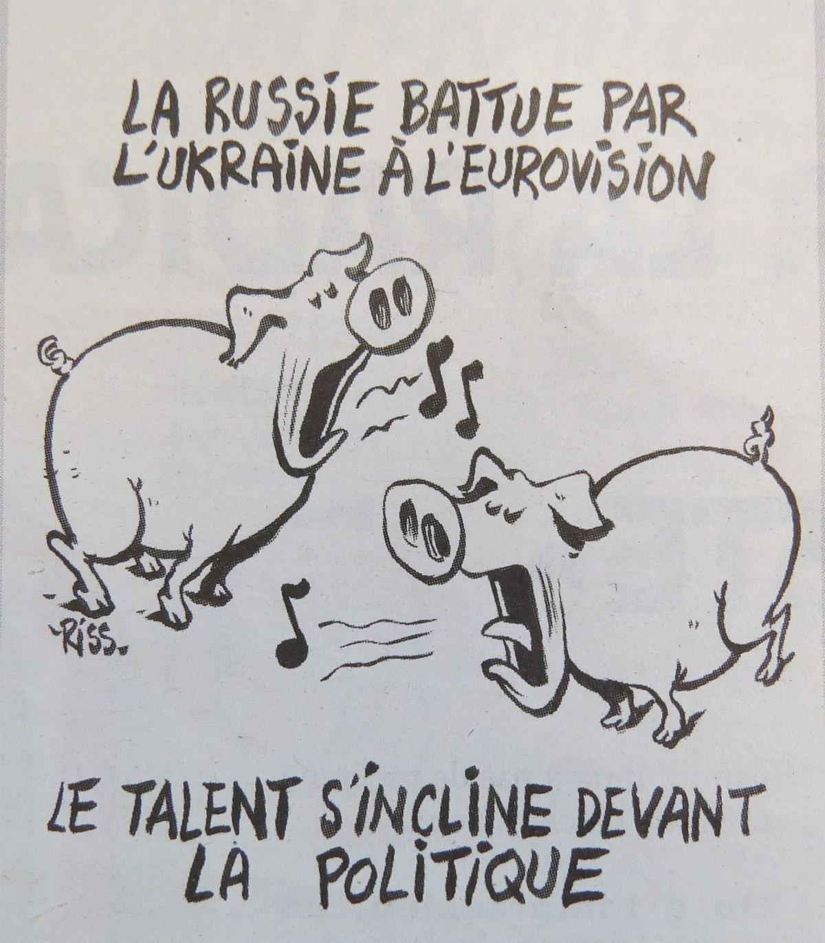 Charlie Hebdo jurnalı Eurivision-2016 müsabiqəsində Ukrayna və Rusiyanı təmsil etmiş müğənniləri təhqir edib