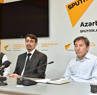 Пресс-конференция в международном пресс-центре Sputnik Азербайджан ,посвященная открытию в Азербайджане Чемпионата по танцам