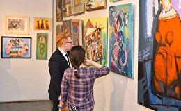 Открытие выставки Из вчера в сегодня в галерее Союза художников Азербайджана