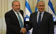 Aviqdor Liberman və Benyamin Netanyahu